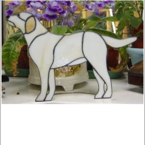 Stained Glass Yellow Lab Suncatcher Decot